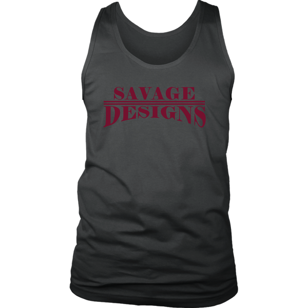 Savage Designs Classic Modern Maroon Tank Top- 9 Colors