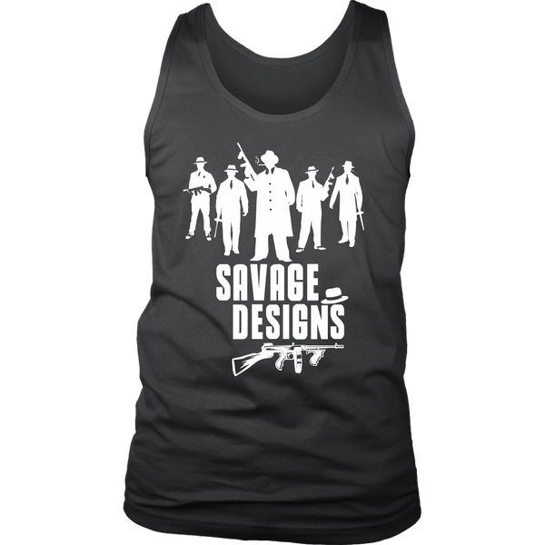 Savage Designs Mob Mafia White Tank Top- 6 Colors