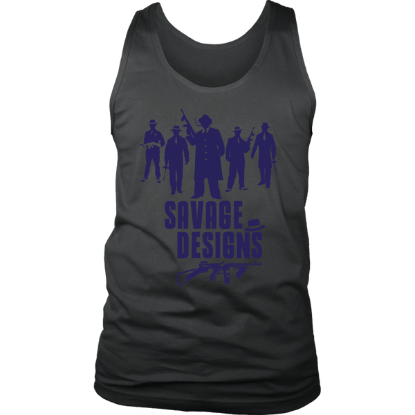 Savage Designs Mob Mafia Navy Tank Top- 3 Colors
