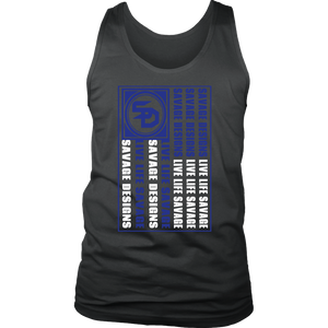 Savage Designs Flag Royal Blue/White Tank Top- 10 Colors