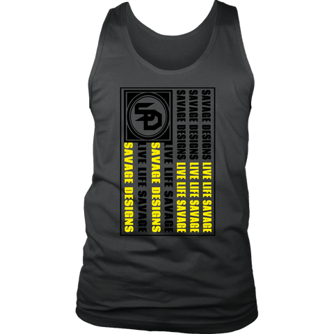 Savage Designs Flag Black/Yellow Tank Top- 12 Colors