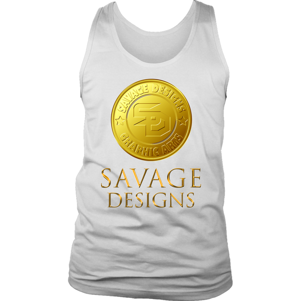 Savage Designs Gold Coin Medallion Tank Top- 8 Colors