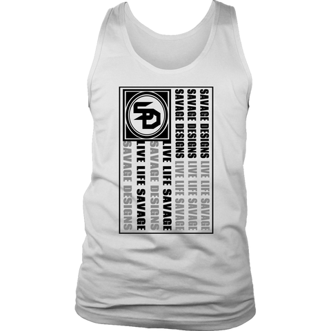 Savage Designs Flag Black/Grey Tank Top- 9 Colors