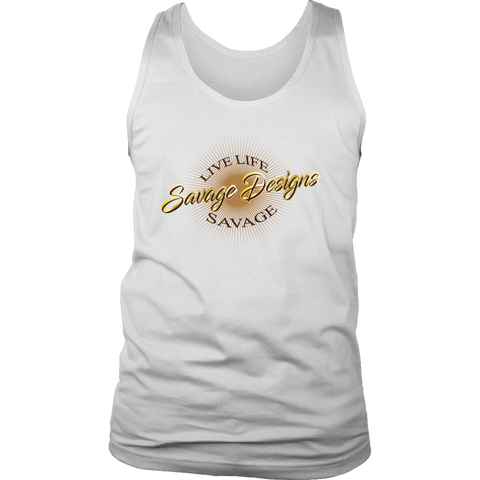 Savage Designs Sunray Flare Brown, Gold and Tan Tank Top- 3 Colors