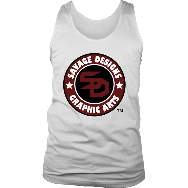 Savage Designs Symbol Patch Burgundy/Black/White Tank Top- 3 Colors