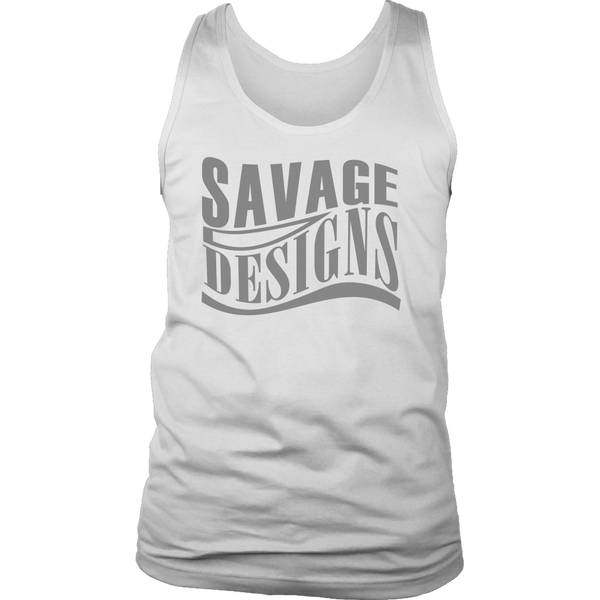 Savage Designs Warped Curve Grey Tank Top- 9 Colors