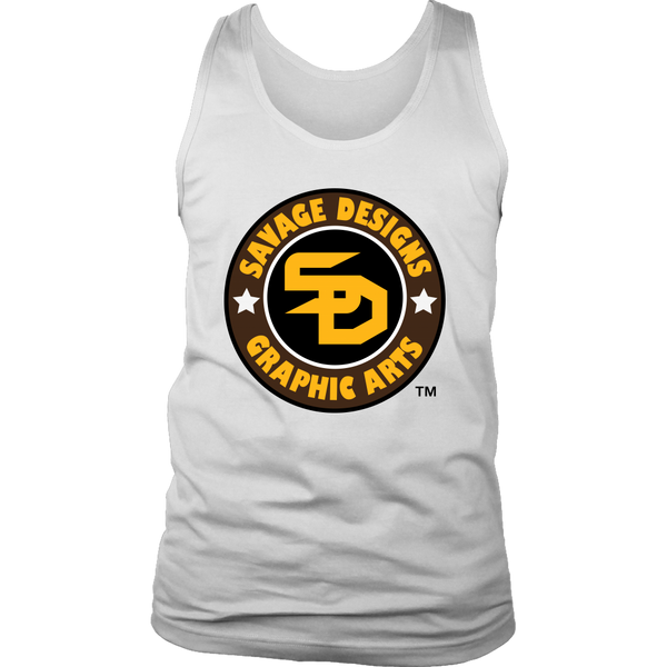 Savage Designs Symbol Patch Gold/Black/Brown Tank Top- 3 Colors