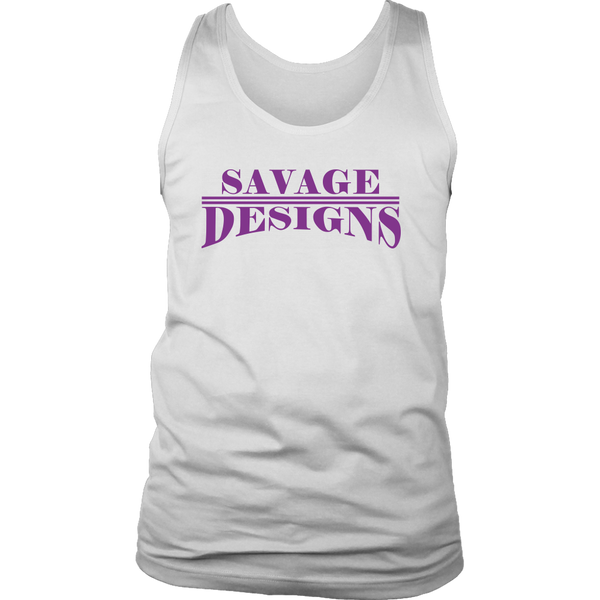 Savage Designs Classic Modern Purple Tank Top- 9 Colors