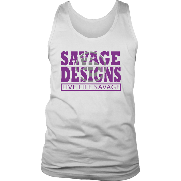 The Savage Within Purple/Grey Tank Top- 6 Colors