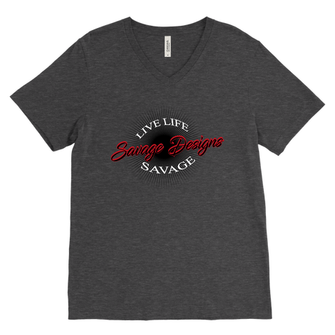 Savage Designs Sunray Flare Black and Red V-Neck- 12 Colors