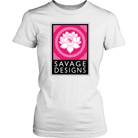 Savage Designs Lotus Flower Hot Pink/White/Black- 15 Colors
