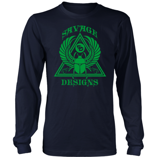 Savage Designs Eygptian Scarab Bettle Green Long Sleeve- 8 Colors