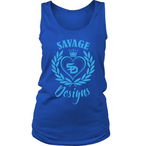 Savage Designs Heart of Hearts Turquoise Tank Top- 9 Colors