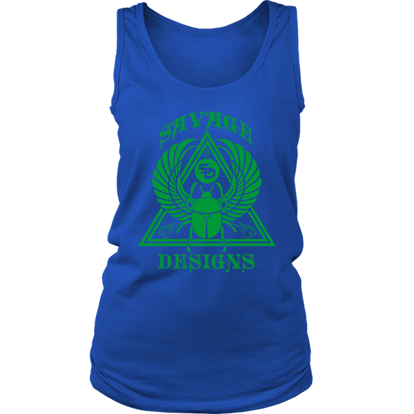 Savage Designs Eygptian Scarab Bettle Green Tank Top- 8 Colors