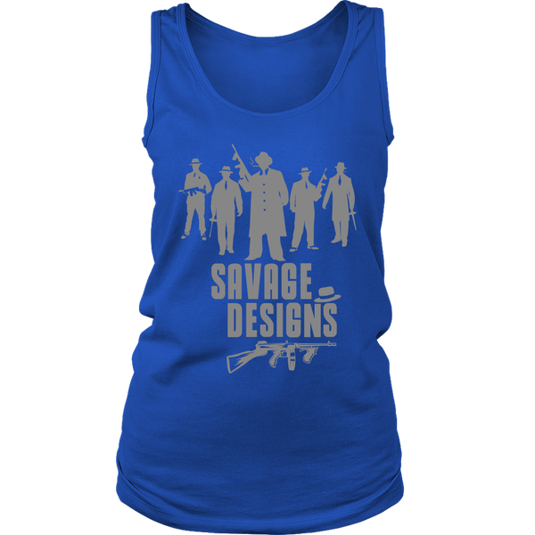 Savage Designs Mob Mafia Grey Tank Top- 8 Colors