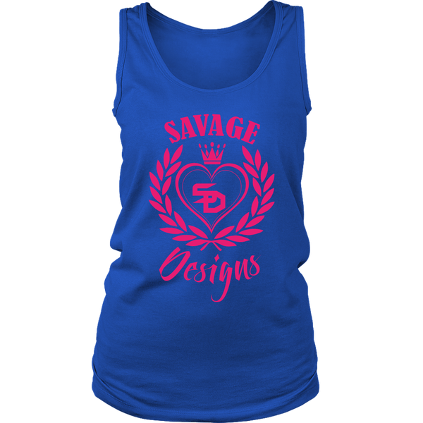 Savage Designs Heart of Hearts Hot Pink Tank Top- 10 Colors