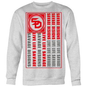 Savage Designs Flag Red/Grey Sweatshirt- 6 Colors