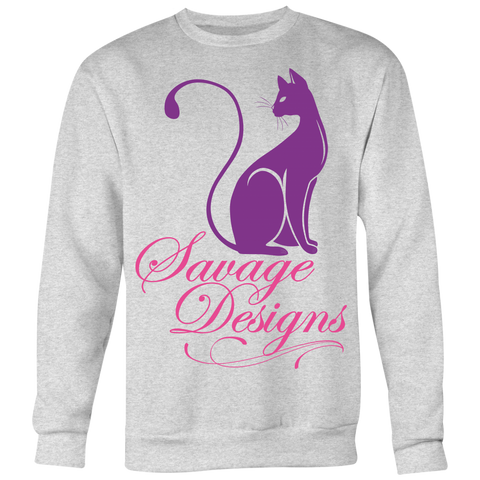 Savage Designs Lady Kitten Purple/Pink Sweatshirt- 4 Colors
