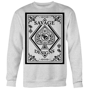 Savage Designs Ace of Spade Black Sweatshirt- 7 Colors