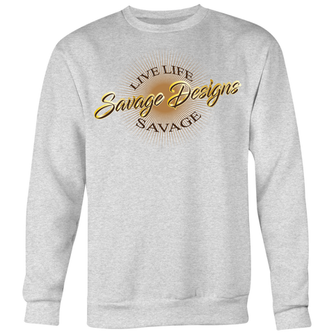 Savage Designs Sunray Flare Brown, Gold and Tan Sweatshirt- 2 Colors