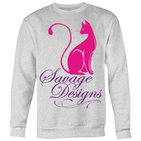 Savage Designs Lady Kitten Hot Pink/Purple Sweatshirt- 4 Colors