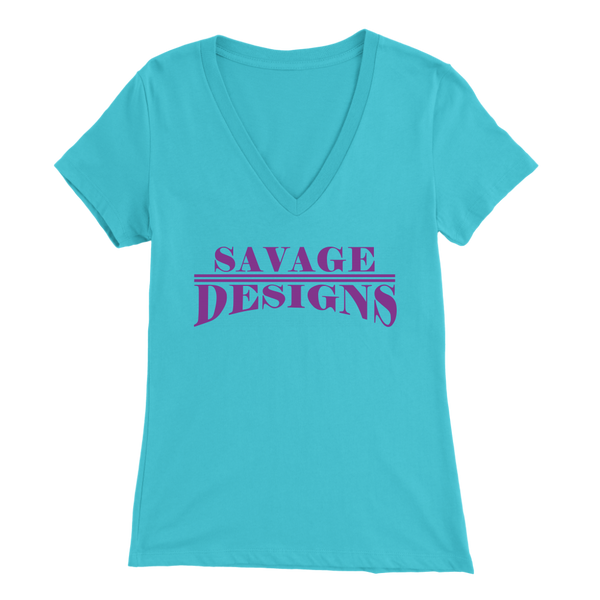 Savage Designs Classic Modern Purple V-Neck- 8 Colors