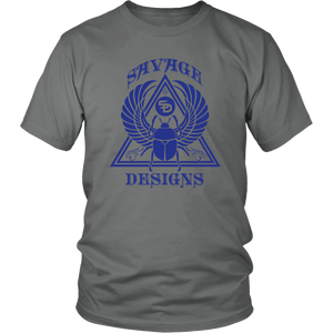 Savage Designs Eygptian Scarab Beetle T-Shirt Royal Blue- 11 Colors