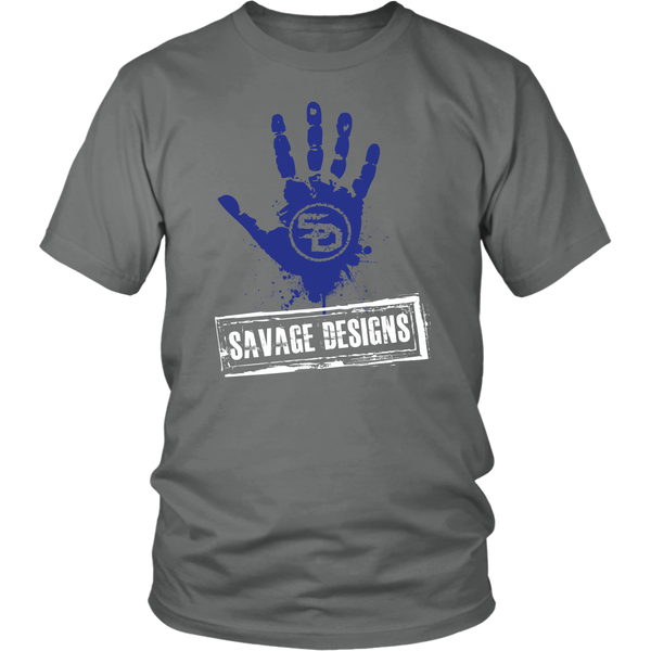 Savage Designs Handprint Stamp Royal Blue/White- 9 Colors