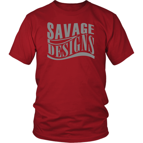 Savage Designs Warped Curve T-shirt Grey- 10 Colors