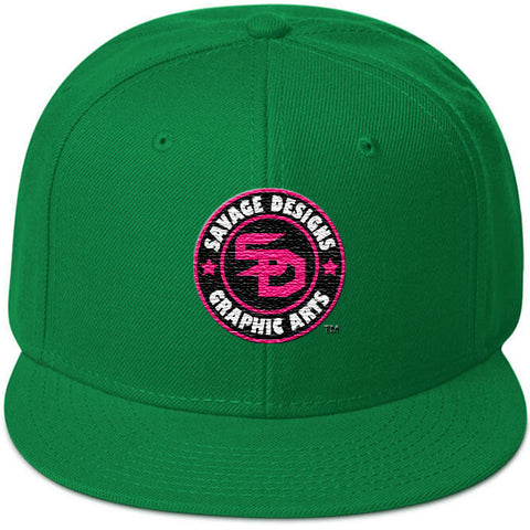 Savage Designs Snapback Black/White/Flamingo Pink- 3 Colors
