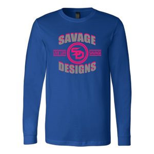 Savage Designs Dead Focus Grey/Hot Pink Long Sleeve- 8 Colors