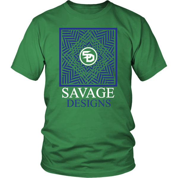 Savage Designs Optical Illusion Royal Blue/White- 4 Colors