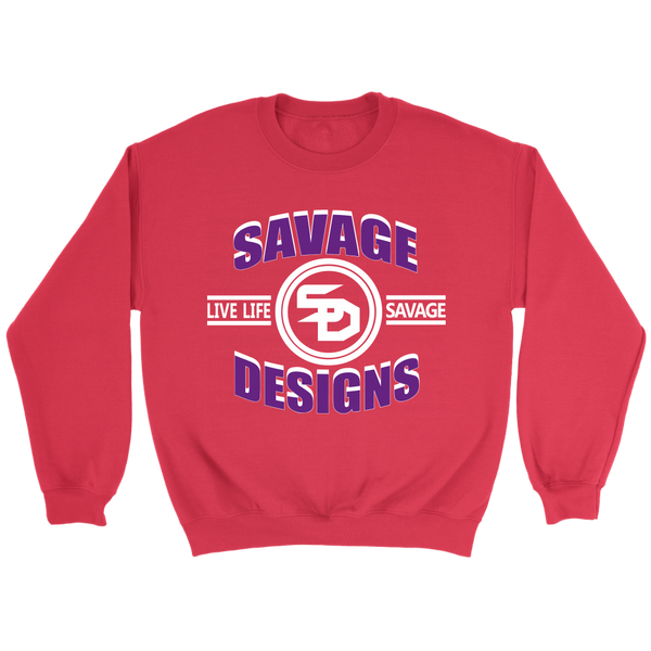 Savage Designs Dead Focus Purple/White Sweatshirt- 7 Colors