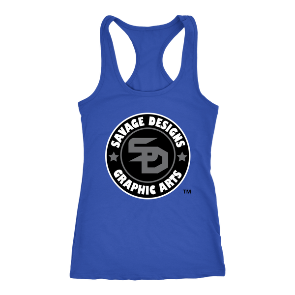 Savage Designs Symbol Patch Black/Grey/White Tank Top Color #2- 10 Colors