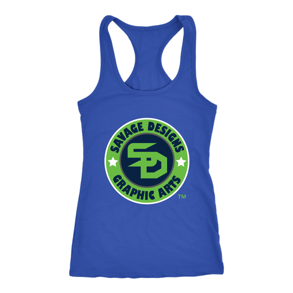 Savage Designs Symbol Patch Lime Green/Navy/White Tank Top- 6 Colors