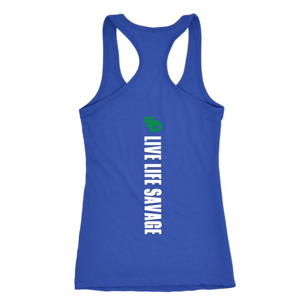 Savage Designs Original Symbol/Live Life Savage Front and Back Print Tank Top- 7 Colors