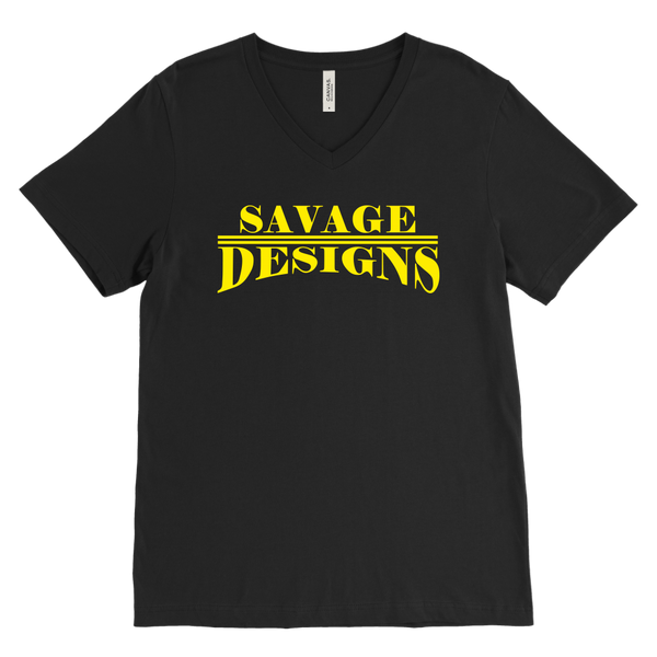Savage Designs Classic Modern Yellow V-Neck- 12 Colors