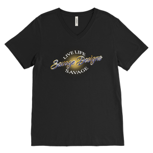 Savage Designs Sunray Flare Royal Blue and Gold V-Neck- 11 Colors