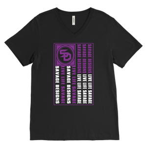 Savage Designs Flag Purple/White V-Neck- 7 Colors