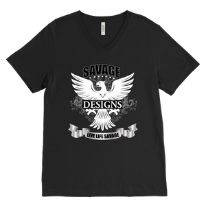 Savage Designs Screeching Falcon V-Neck- 15 Colors