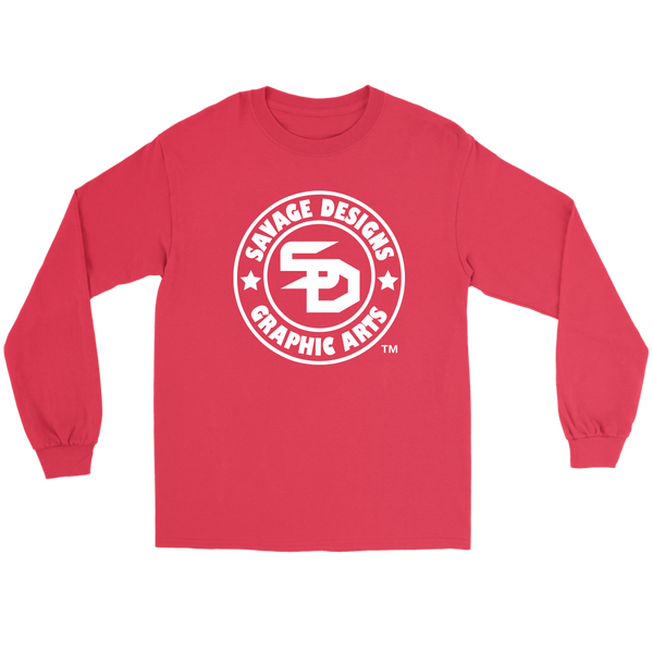 Savage Designs Original Symbol/Live Life Savage Front and Back Print Long Sleeve- 11 Colors