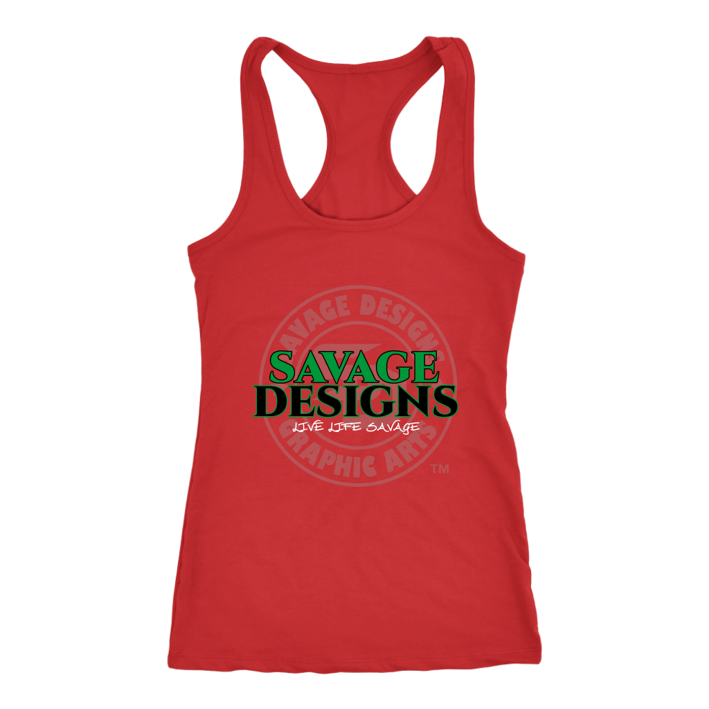 Savage Designs Faded Symbol Green/Black/White Tank Top- 7 Colors
