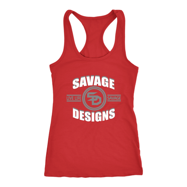 Savage Designs Dead Focus White/Grey Tank Top- 7 Colors