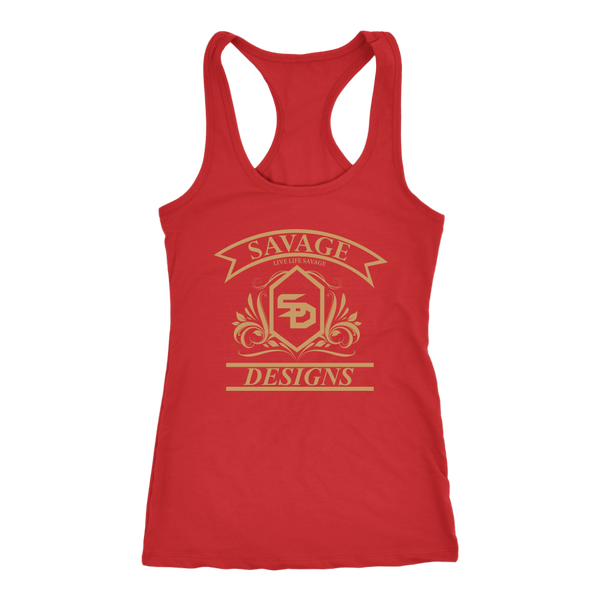 Savage Designs Diamond Floral Tan Tank Top- 10 Colors