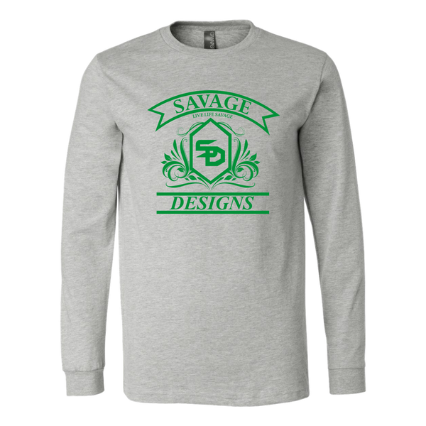 Savage Designs Diamond Floral Green Long Sleeve- 9 Colors