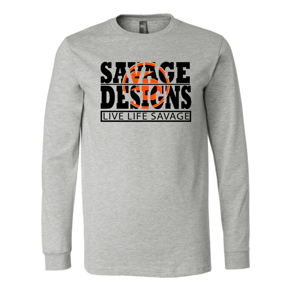 The Savage Within Black/Orange Long Sleeve- 11 Colors
