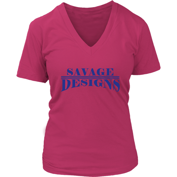 Savage Designs Classic Modern Royal Blue V-Neck- 9 Colors