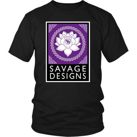 Savage Designs Lotus Flower Purple/White/Black- 7 Colors
