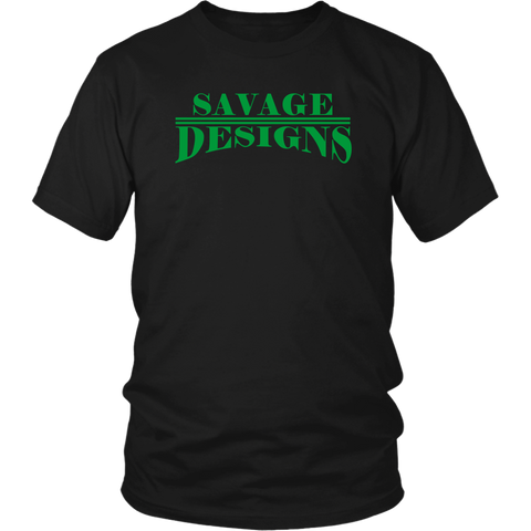 Savage Designs Classic Modern T-shirt Green- 10 Colors