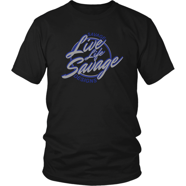 Savage Designs Live Life Savage Calligraphy Grey/Royal Blue- 3 Colors